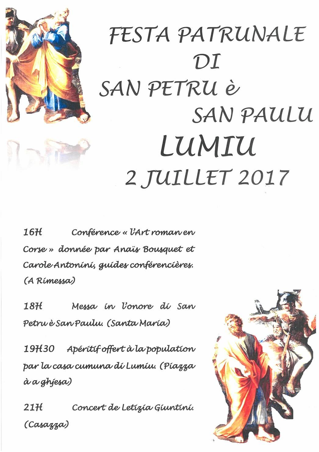Festa di San Petru è San Paulu le 2 juillet 2017