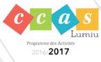 CCAS : PRUGRAMMA  DI L'ATTIVITÀ 2016 / 2017